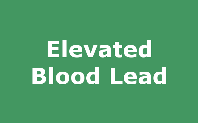 Elevated Child Blood Lead Level report link