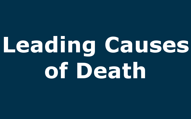 Leading Causes of Death report link