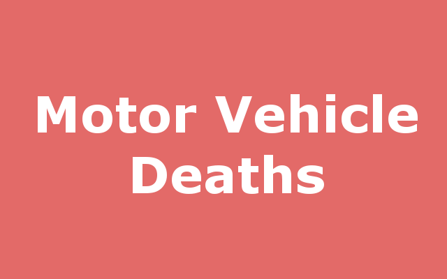 Motor Vehicle-related Death report link